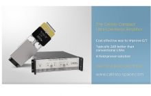 Callisto has supplied 2 units of the K-Band (20GHz) Compact Cryo LNAs